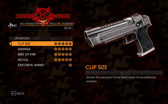 Gat out of Hell - Heavy Pistol - Upgrades