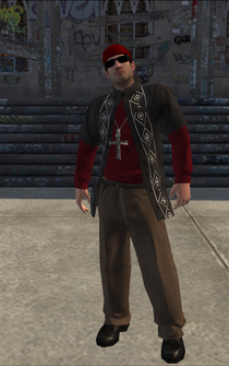 Los Carnales male Killa1-01 - WhiteRedShirt - character model in Saints Row