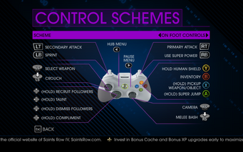 Saints Row IV On Foot Controls 2