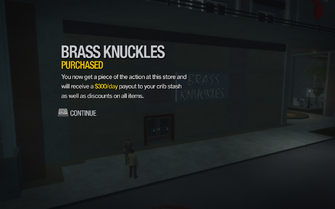 Brass Knuckles in Amberbrook purchased in Saints Row 2