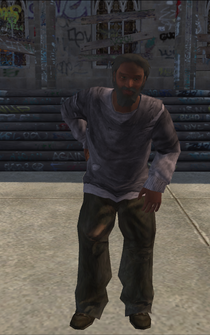 Bum - black - character model in Saints Row