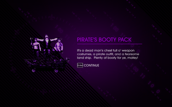 Pirate's Booty Pack unlocked