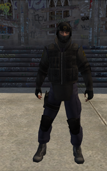 SWAT01 - goggles up - character model in Saints Row