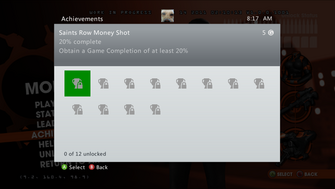 Saints Row Money Shot Achievement - 20% complete