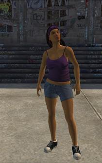 Saints female Thug-04 - hispanic - character model in Saints Row