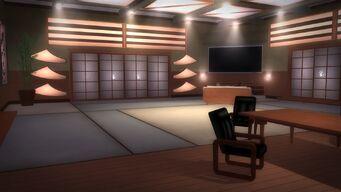 Tohoku Towers - room with doors and TV