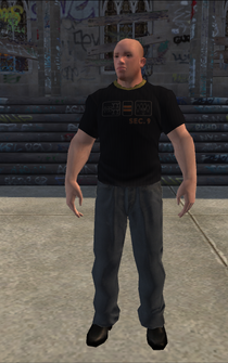 Bouncer - White tshirt - character model in Saints Row