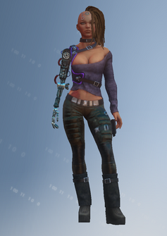 Shaundi - future - character model in Saints Row IV