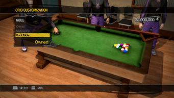 University Loft - Crib Customization - Table - Pool table