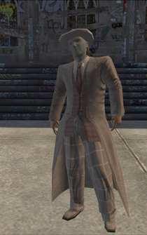 Pimp-01 - white with white coat - character model in Saints Row