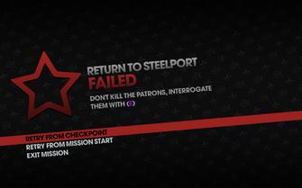 Return to Steelport failed - interrogate