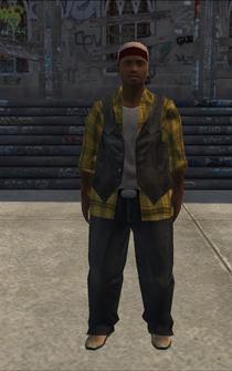 Trucker-01 - black - character model in Saints Row