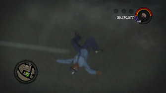 Flashbang - after-effect on Playa in Saints Row 2