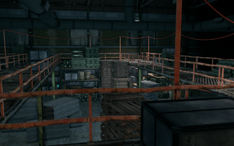 Guard Armory interior upper walkway in Saints Row The Third
