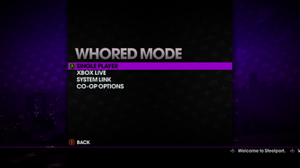 Whored Mode main menu