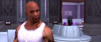Playa in a Saints Row 2 trailer