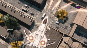F-69 VTOL firing Swarm Missiles in the Saints Row - The Third Open World Gameplay trailer
