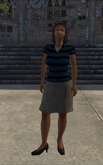Generic young female 01 - black - character model in Saints Row