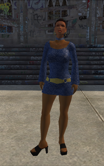 HO-01 - Black Ho - character model in Saints Row