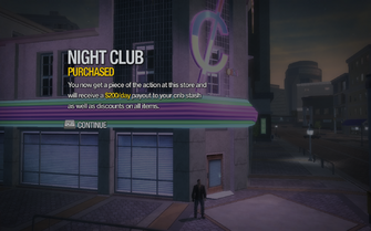 Night Club in Nob Hill purchased in Saints Row 2