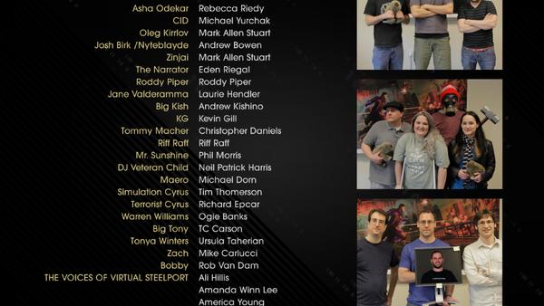 Saints Row IV credits - Tonya Winters
