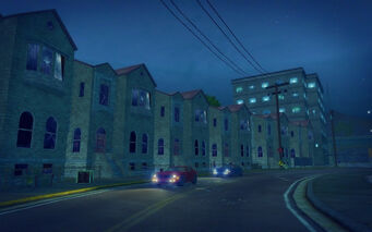 Shivington in Saints Row 2 - street at night