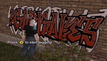 Tagging in Saints Row - Press Y