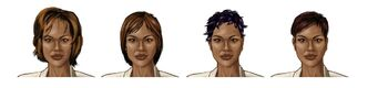 Aisha Saints Row 2 Concept Art 03 - Hair variants