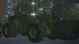Bulldozer with lights - front right in Saints Row 2