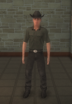 Cowboy - strong black clothes - character model in Saints Row 2