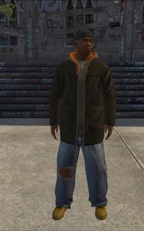 Hustler - black hoody - character model in Saints Row
