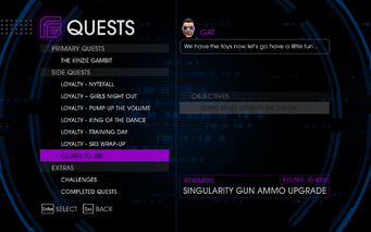 Quests Menu - Closer To 250 Quest