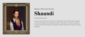 Saints Row website - People - The Cabinet - Shaundi