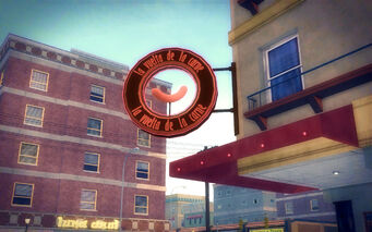 Southern Cross in Saints Row 2 - La vuelta de la carne sign