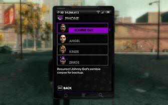Zombie Gat phone list