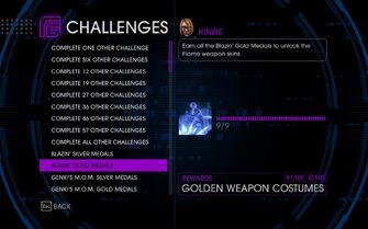 Challenge 11 Blazin' Gold Medals