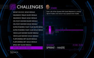 Challenge 25 Speed Rift Gold Medals