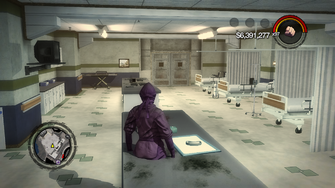 Cutscene version of Stilwater Penitentiary hospital with TV missing