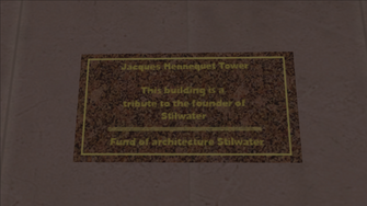Jacques Hennequet Tower sign