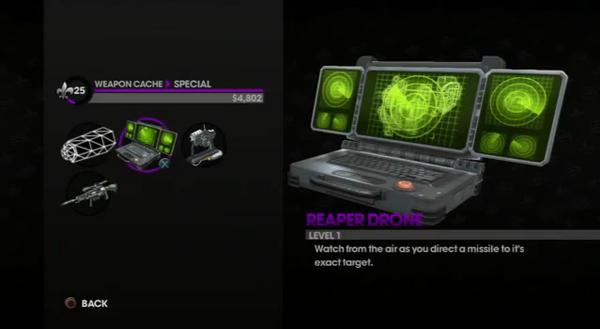 Reaper Drone in Weapon Cache