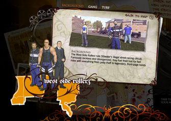 Saints Row promo website - Westside Rollers Background