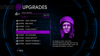 Upgrades menu in Saints Row IV - Page 2 of Gang Abilities
