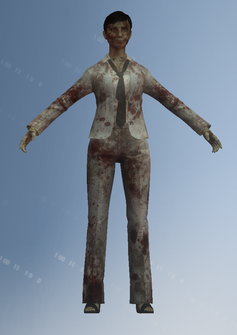 Zombie - businesswoman - character model in Saints Row IV