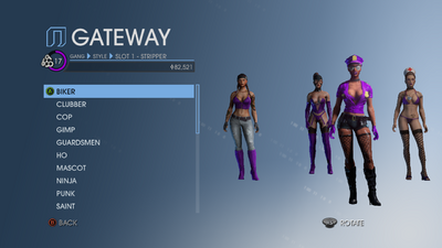 Gang Customization - style in Saints Row IV