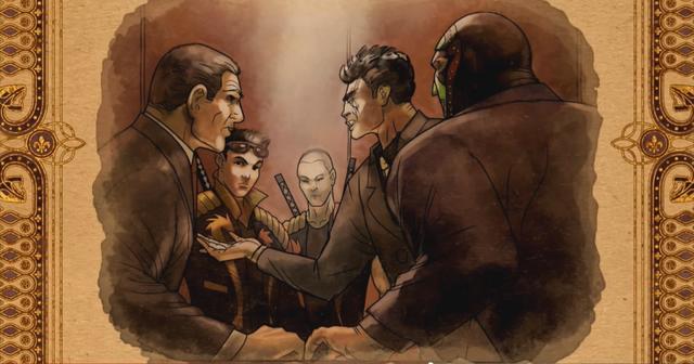 File:Gat out of Hell cutscene - Sharp, Shogo, Jyunichi, Kazuo, Killbane forming their alliance.png