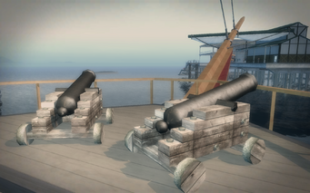 Pirate Ship - cannons