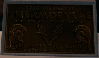 Thermopylae builders plate in game closeup