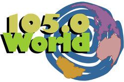 105.0 The World logo