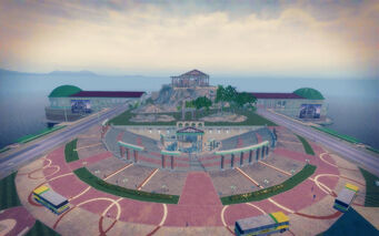 Amberbrook in Saints Row 2 - north view from top of Buy Jove