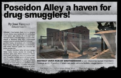 Newspaper sh bh docks Poseidon Alley Docks